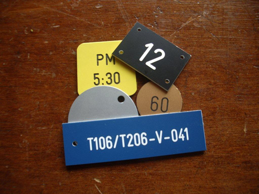 Engraved Labels & Tags